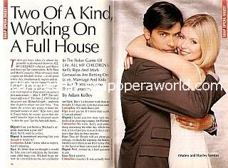 Interview with Mark Consuelos & Kelly Ripa (Mateo & Hayley on All My Children)