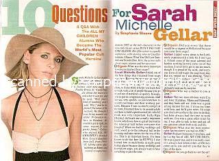Interview with Sarah Michelle Gellar (ex-Kendall, AMC)