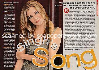 Interview with Sabine Singh (Greenlee on All My Children)