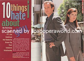 Interview with Jon Lindstrom and Kimberlin Brown (Kevin and Rachel on the ABC soap opera, Port Charles)