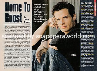 Interview with Antonio Sabato Jr. (Dante on The Bold and The Beautiful)