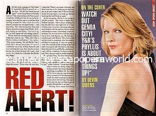 Cover Story:  Interview with Michelle Stafford (Phyllis on Y&R)