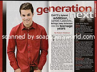 Interview with James  Lastovic (Joey Johnson on Days Of Our Lives)