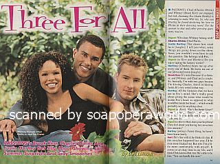 Interview with Brook Kerr, Charles Divins & Justin Hartley (Whitney, Chad and Fox on the NBC soap opera, Passions)