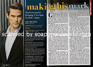 Interview withi Mark Grossman (Adam on The Young and The Restless)