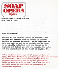 3-page welcome letter from the editors of Soap Opera Digest in 1975