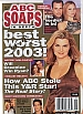12-23-03 ABC Soaps In Depth HEATHER TOM-BEST & WORST 2003