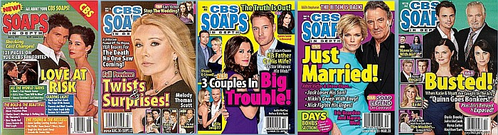 Back Issues of CBS Soaps In Depth from 1997 thru 2020