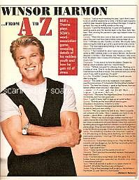 From A to Z with Winsor Harmon (Thorne on The Bold & The Beautiful)