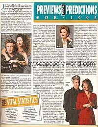 Guiding Light Previews & Predictions for 1995