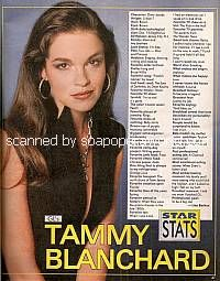 Star Stats with Tammy Blanchard (Drew on Guiding Light)