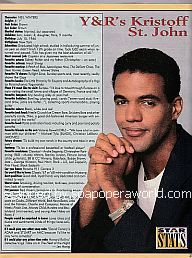 Star Stats with Kristoff St. John of The Young & The Restless