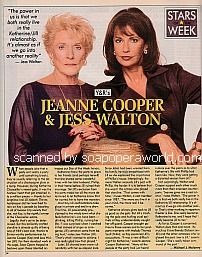 Stars Of The Week:  Jeanne Cooper and Jess Walton of The Young and The Restless