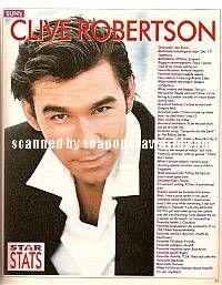 Clive Robertson (Ben on SUNSET BEACH)