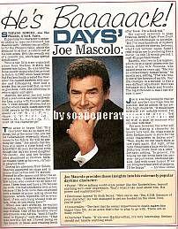 Joseph Mascolo (Stefano DiMera, DAYS)