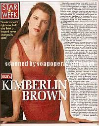 Kimberlin Brown (Sheila Forrester, B&B)