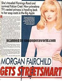 Morgan Fairchild played the role of Sydney Chase on The City