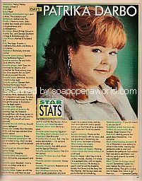 Star Stats with Patrika Darbo of Days Of Our Lives