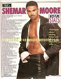 Shemar Moore played the role of Malcolm on Y&R