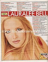 Star Stats with Lauralee Bell (Cricket on The Young & The Restless)