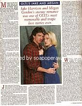 A Great Love Story From The Past:  Jake & Megan of OLTL