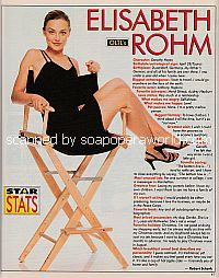 Star Stats with Elisabeth Rohm (Dorothy Hayes on One Life To Live)