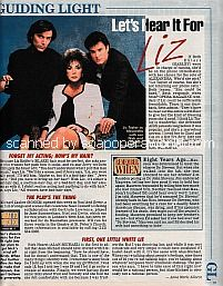 Soap Scoops for Guiding Light featuring Elizabeth Taylor, Vincent Irizarry & Rick Hearst