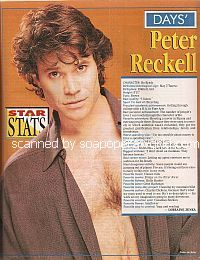 Star Stats with Peter Reckell (Bo Brady on Days Of Our Lives)