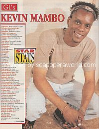 Star Stats with Kevin Mambo (Marcus Williams on Guiding Light)