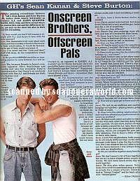 Sean Kanan & Steve Burton (A.J. & Jason, GH)