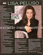 Star Stats with Lisa Peluso (Lila on Another World)