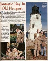 A Day In Newport, RI with AW co-stars, Charles Keating & Victoria Wyndham (Carl and Rachel on Another World)