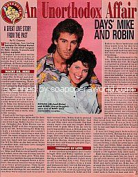 A Great Love Story From The Past:  DAYS' Mike and Robin