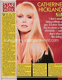 Star Of The Week - Catherine Hickland of The City