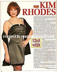 Kim Rhodes (Cindy, AW)