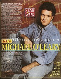 Star Of The Week:  Michael O'Leary (Rick Bauer on Guiding Light)