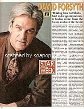 Star Of The Week:  David Forsyth (John Hudson, AW)