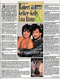 Interview with Robert Kelker-Kelly & Lisa Rinna of Days Of Our Lives