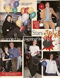 Soap Stars at Charity Bowling Event
