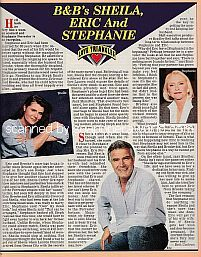 Love Triangle featuring B&B co-stars Kimberlin Brown, John McCook & Susan Flannery (Sheila, Eric & Stephanie on The Bold and The Beautiful)