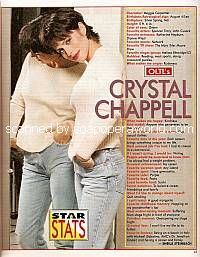 Star Stats with Crystal Chappell (Maggie on One Life To Live)