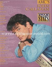 Star Stats with John Callahan of All My Children