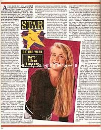 Star Of The Week:  Alison Sweeney (Sami on Days Of Our Lives)