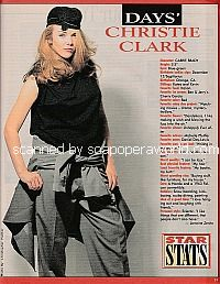 Star Stats with Christie Clark (Carrie Brady on Days Of Our Lives)