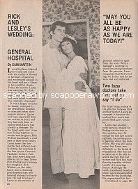 Rick and Lesley's Wedding on General Hospital
