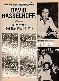 Interview with David Hasselhoff (Snapper Foster on The Young and The Restless)