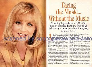 Interview with Barbara Mandrell (Alex Mitchum on Sunset Beach)