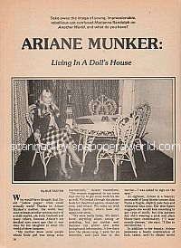 Interview with Ariane Munker (Marianne Randolph on Another World)