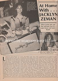 Interview At Home with Jacklyn Zeman of General Hospital
