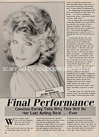 Interview with Candice Earley (Donna on All My Children)